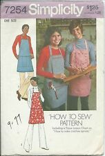 S 7254 sewing pattern APRONS sew His/Her Fashion Kitchen BarBQ Carpenter Butcher