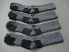 NWOT Men's Merino Wool Blend Socks 4 Pair Size 10-13 Black/Grey #963A
