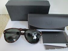 New Auth Persol PO 0649 Tortoise Brown Green 52mm Lens Sunglasses $300 w/ Case