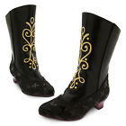 Disney Store Anna Black Boots Costume Shoes Girl Frozen Size 13/1 2/3 NEW