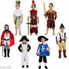 Boys Fancy Dress Up Costume Outfit Age 4-9 Knight Roman Musketeer Egyptian New
