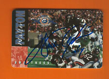 WALTER PAYTON AUTOGRAPH 1995 PHONE CARD AUTO W/COA Chicago Bears SIGNED HOF