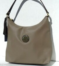 NEW! Green Grey-Brown Faux Leather [TOMMY HILFIGER] Medium HOBO Bucket Handbag
