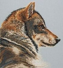 "My Best Side (Wolf) Cross Stitch Kit - Maia (Anchor) - 12"" x 12"""