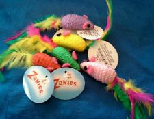 Zanies Corded Mice with Feather Tails & Rattle Cat Toy. 20/$13.80