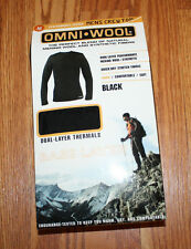 NIB Mens OMNI * WOOL Crew Top Base Layer Long Sleeve Thermal Shirt Size M Medium