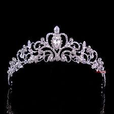 5cm hoch Blume Blatt Hochzeit Braut Haarschmuck Haarreif Krone Diademe Tiara