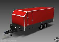 Trailer Plans- ENCLOSED TRAILER PLANS- 6x2.4x2m (±20x8x6½ft)- HARDCOPY A3 COLOUR
