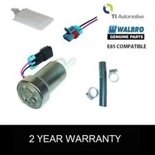 GENUINE WALBRO 450 LPH FUEL PUMP + E85 COMPATIBLE FITTING KIT + FILTER