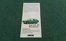 1976 FIAT 128 3P BERLINETTA 1100 1300 - UK SMALL COLOUR FOLDER BROCHURE