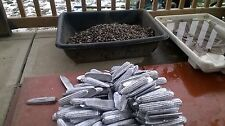 20lb lot lead ingots made from range scrap skimmed and fluxed