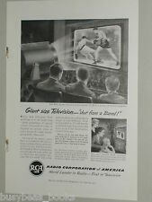 1951 Radio Corporation of America ad, RCA projection TV