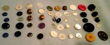 50 pcs RARE Vintage-Collectible-Old-New all META/OTHERL Buttons MIXED LOT