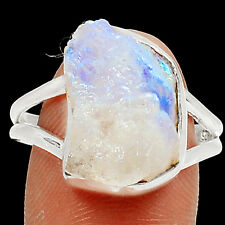 Moonstone Rough 925 Sterling Silver Ring Jewelry s.9 RR28189