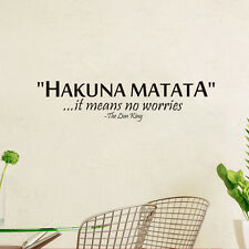 Removable Vinyl Wall Decal Quote Lettering Hakuna Matata Art Home Mural