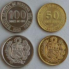 Peru 50+100 Soles 1979-1983 p273/283 unz.