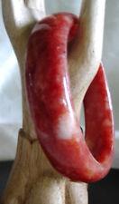 Natural Hand Carved Jade/Jadeite Bloodstone Bangle/inside 61mm Inventory #28