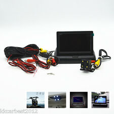 "Car LED Night Vision Reversing Parking Camera 4.3"" LCD Foldable Monitor For BMW"
