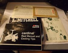 Vintage Mitchell & Cardinal Fishing Reel Papers Manuals