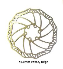 "88 GRAMMES 160MM  HEAT TREATED STAINLESS STEEL ""DELTA WAVE"" DISC BRAKE ROTOR !"