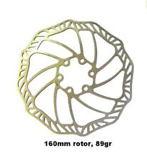 """88 GRAMMES 160MM  HEAT TREATED STAINLESS STEEL """"DELTA WAVE"""" DISC BRAKE ROTOR !"""