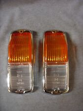 NEW TRIUMPH SPITFIRE FRONT SIDE FLASHER LENSES AND RIMS MODEL L677 PAIR