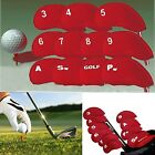 Red Neoprene Golf Club Iron Putter Wedge Head Cover Sock Skin Protection 10 pcs