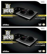 2 x NEW Wii DJ Hero 1 TURNTABLE Game Official Wireless Controllers NINTENDO NEW