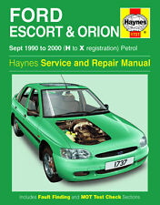 1737 Haynes Ford Escort & Orion Petrol (Sept 1990 - 2000) H to X Workshop Manual