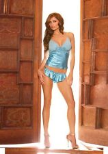 Charmeuse cami with mesh cups & Matching Shorts M 10-12 uk