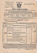 DOCUMENTI ESATTORIA DI CUMIANA TORINO 1864 12-141