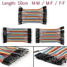 40Pièce Dupont Wire Jumper Câble 10cm M-M M-F F-F 1P-1P Pour Arduino Breadboard