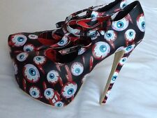 IRON FIST Blood Shot Platform Sandal Shoes UK 4 EUR 37 RARE Reduced