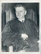 1938 Los Angeles Judge Ingall Bull in Robe Paul Wright Murder Case Press Photo