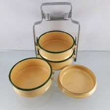 Bento Lunch Box Food Thai Enamel Tiffin Carrier Container Pinto Enamelware Yello