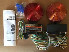 12V Magnetic Towing Tow Light Kit Trailer RV Tow Dolly Tail Towed Car Boat Truck