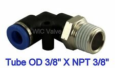 "5pcs Pneumatic Male Elbow Connector  Tube OD 3/8"" X NPT 3/8"" Air Push In Fitting"