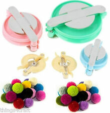 Deluxe 4 POM POM Bobble Maker Pattern Yarn Craft Knitting Tool loom Kit