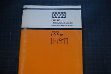 CASE W24C Wheel Loader Operation Maintenance Manual operator book pay 1977 SHOP
