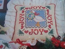 Country Christmas Joy Duck OOP Magazine Cross Stitch PATTERN