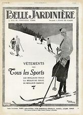 """""""BELLE JARDINIERE"""" Annonce originale entoilée L'ILLUSTRATION 10/1/1925 (BRODERS)"""