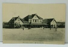 Sendai Japan Train Station Photo View Japanese Postcard circa 1915