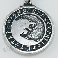 VIKING GOD ODIN'S Amulet Magical Runes Odin Wolf Warrior Norse Pendant Necklace