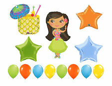 Aloha Hawaii Birthday Balloons, Hawaiian Dancer Party Supplies