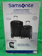 Samsonite Ultralite Extreme 2 Piece Suitcase Spinner Wheels Cabin Large Luggage