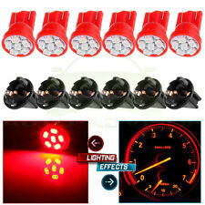6X TWIST SOCKET T10 LED INSTRUMENT CLUSTER DASH RED LIGHT BULB PC168 PC194