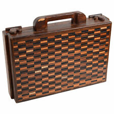 DON SHOEMAKER SENAL Vtg Mid Century Danish Modern Rosewood Wood Briefcase
