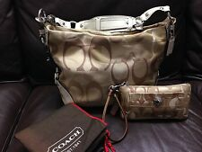 Lot Of 3 Authentic Coach Women's Shoulder HandBag Purse , Wallet & Dust Bag