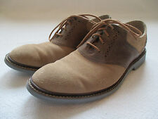 Cole Haan Men's casual sz 8 Air Franklin Saddle Oxford shoes NATURAL gently used
