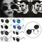 Vintage Men Women Steampunk Goggles Round Metal Flip Up Sunglasses Eyewear Lens
